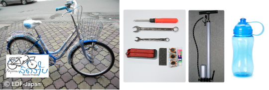 ラオスの自転車支援品
