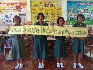 タイ中学1年生からのメッセージ