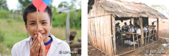 タイとラオスの教育支援セット