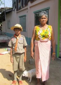 ティラワット君と祖母