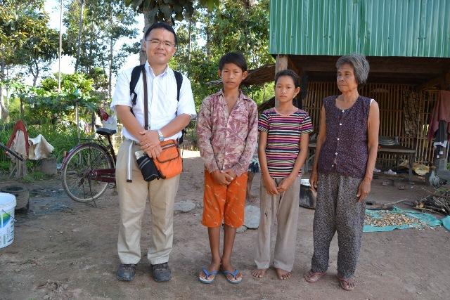 奨学生の家庭訪問