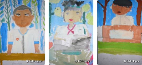 子どもたちの描いた絵