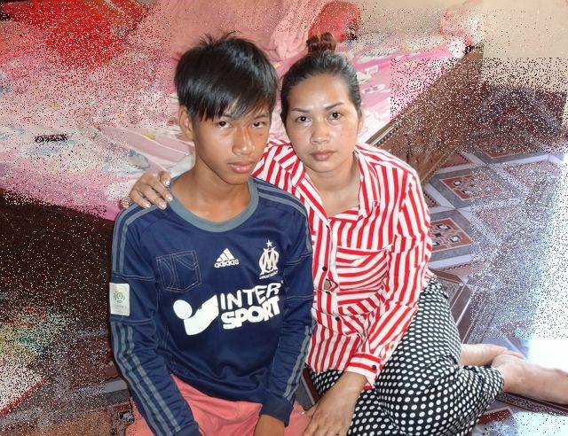 奨学生V君とお母さん