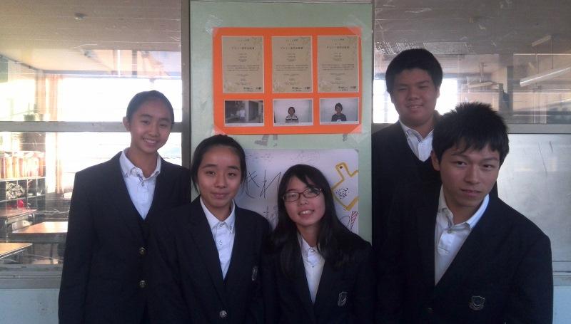 タイ中学生の奨学金証書
