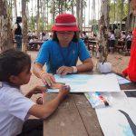 ラオス・ポントゥン村の子どもたちの絵が金沢21世紀美術館に展示されます
