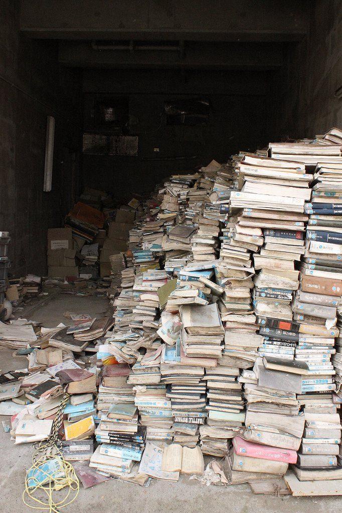 陸前高田市の中心街にある図書館
