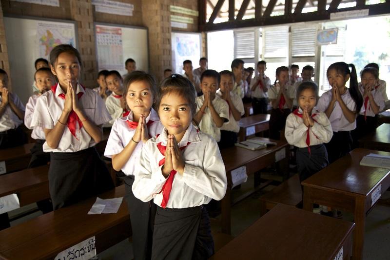ポントゥン村の小学校の教室